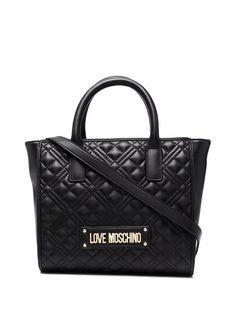 Love Moschino стеганая сумка-тоут