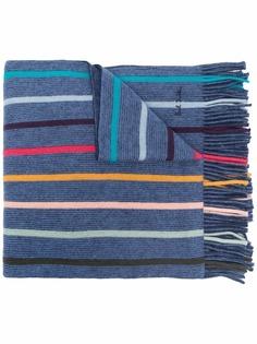 PAUL SMITH шерстяной шарф в полоску