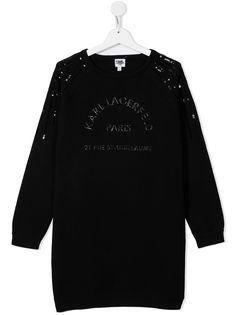 Karl Lagerfeld Kids платье с пайетками