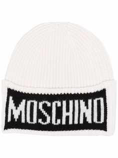 Moschino шапка бини с логотипом