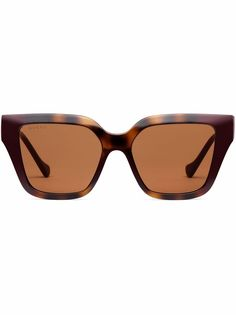 Gucci Eyewear солнцезащитные очки в квадратной оправе с логотипом