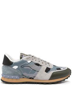 Valentino Garavani кроссовки Rockrunner с камуфляжным принтом