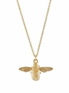 Alex Monroe колье Inbetweeny Bee из желтого золота