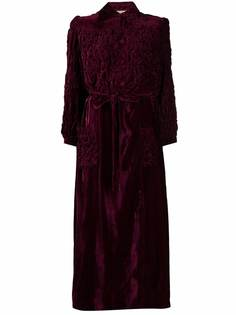 A.N.G.E.L.O. Vintage Cult бархатное платье макси 1950-х годов