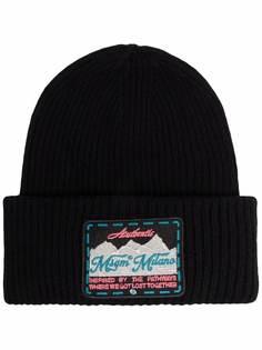 MSGM шапка бини с нашивкой-логотипом