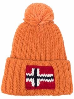 Napapijri шапка бини с вышитым логотипом