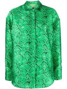 MSGM рубашка со змеиным принтом