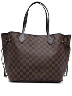 Louis Vuitton сумка-тоут Damier Ebène Neverfull MM 2019-го года