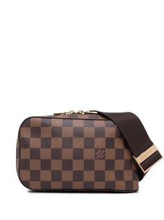 Louis Vuitton поясная сумка Damier Ebène Geronimos 2004-го года