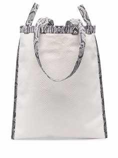 MM6 Maison Margiela сумка-тоут с тиснением под кожу змеи