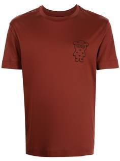 Emporio Armani футболка с нашивкой-логотипом