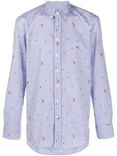 ETRO клетчатая рубашка с принтом