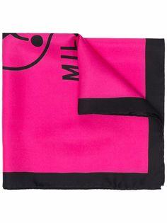 Moschino шелковый платок с логотипом