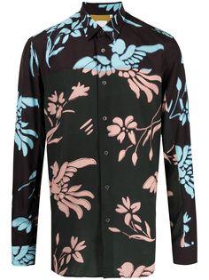 PAUL SMITH рубашка с цветочным принтом