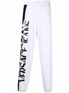 Versace Jeans Couture спортивные брюки с кулиской и логотипом