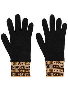 Moschino перчатки с логотипом