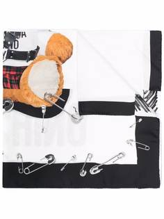 Moschino шелковый платок Teddy Bear