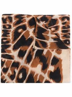 Moschino шарф с леопардовым принтом