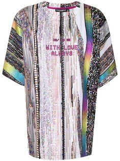 Dolce & Gabbana футболка с абстрактным принтом и надписью
