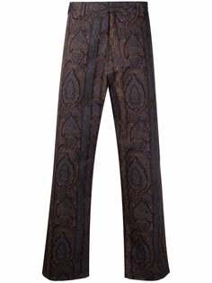 PAUL SMITH брюки прямого кроя с принтом пейсли