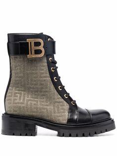 Balmain ботинки Ranger Romy с монограммой