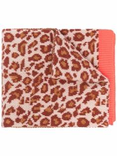 PAUL SMITH шерстяной шарф с леопардовым принтом
