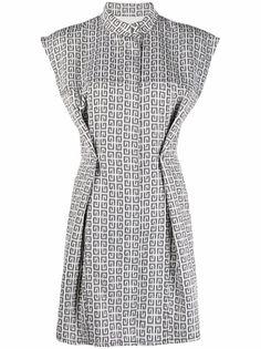 Givenchy платье с короткими рукавами и логотипом 4G