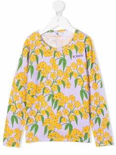 Mini Rodini футболка с цветочным принтом и длинными рукавами
