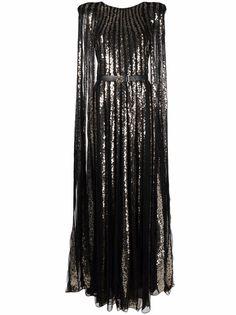 Elie Saab платье-кейп с пайетками