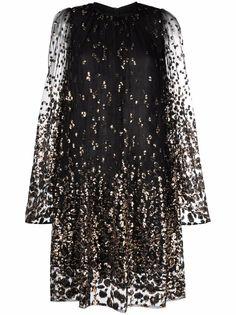 Elie Saab платье из тюля с пайетками