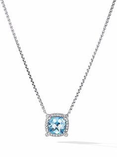 David Yurman серебряное колье Châtelaine с топазом и бриллиантами