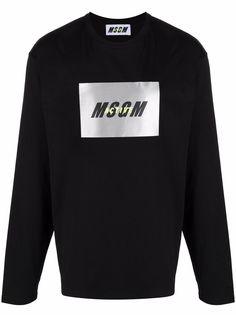 MSGM футболка с длинными рукавами и логотипом