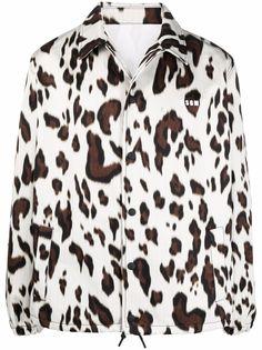 MSGM куртка с леопардовым принтом