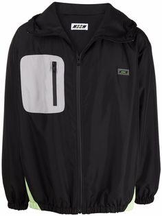 MSGM куртка с карманом на молнии