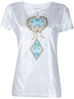 Cynthia Rowley футболка Jewel с эффектом металлик