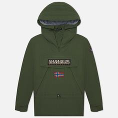 Мужская куртка анорак Napapijri Skidoo 3, цвет зелёный, размер L