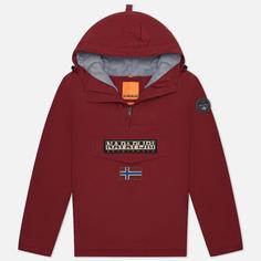 Мужская куртка анорак Napapijri Rainforest Winter 2, цвет бордовый, размер XL