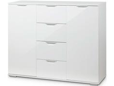 Комод Vental Лайн-4 (Фасады МДФ) White-White Gloss