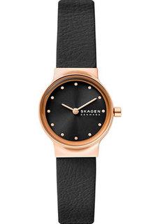 Швейцарские наручные женские часы Skagen SKW3004. Коллекция Leather