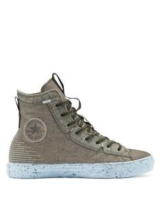 Высокие кроссовки зеленого цвета Converse Chuck Taylor All Star hi crater foam-Желтый