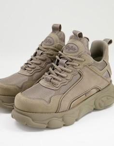 Серо-бежевые массивные кроссовки Buffalo-Коричневый цвет