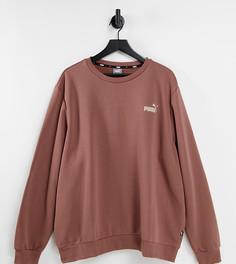Свитшот шоколадного цвета Puma Plus Essentials-Коричневый цвет