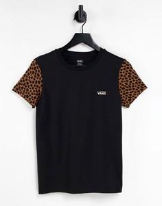Черная футболка в стиле колор блок Vans Wild-Черный цвет