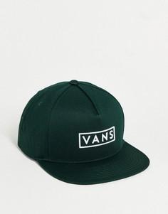 Темно-зеленая бейсболка Vans Easy Box-Зеленый цвет