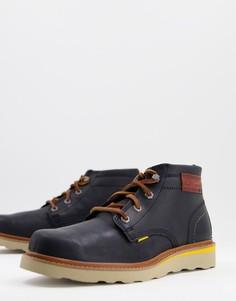 Черные кожаные ботинки на шнуровке CAT Jackson-Черный цвет Caterpillar