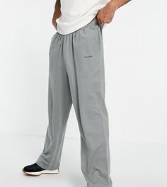 Джоггеры с широкими штанинами угольного цвета COLLUSION-Серый