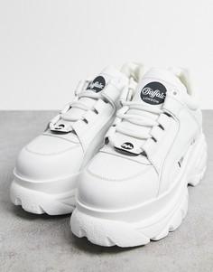 Белые кроссовки на толстой подошве Buffalo-Белый