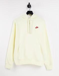 Худи цвета кокосового молока Nike Club-Белый