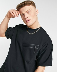 Черная флисовая футболка Nike Tech-Черный цвет
