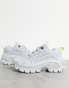 Нечисто белые кроссовки на толстой подошве с желтыми и синими вставками CAT Intruder-Многоцветный Caterpillar
